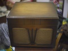 "Kumabe's Apollon ""Mercury"" (Model S-V) (nikkorexf) Tags: kumabe kumabes gramophone phonograph antique 1930s japanese japan nippon vintage bokeh swirl swirly"