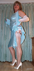 8 Flash of white (janegeetgirl2) Tags: blue white stockings contrast vintage tv high glamour opera dress jane crossdressing tgirl gloves transvestite heels suspenders gee satin crossdresser ts petticoat stilettos fully nylons garters fashioned seams