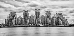 St Georges Wharf (handmiles) Tags: mono monochrome blackandwhite bw city london stgeorgeswharf apartments building architecture river thames riverthames longexposure clouds outside outdoor out sony sonya77m2 sonya77mark2 tamron tamron18200mm nd filter nd1000 mileshandphotography2016