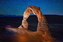 ([ raymond ]) Tags: longexposure travel sky mountains southwest nature beautiful night stars landscape outdoors utah arch view awesome arches moab archesnationalpark img2599