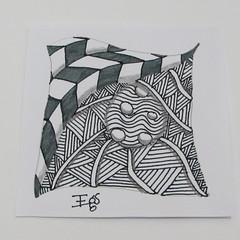 Zentangle Day 4 (emanuellelena) Tags: zentangle desenho shattuck nipa jonqual day4 emanuelleelena manaus amazonas brasil brazil