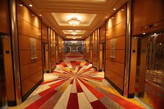 Elevator Hallway (Procyon Systems) Tags: queenmary2 cunard transatlantic slowtravel queenmary2remastered
