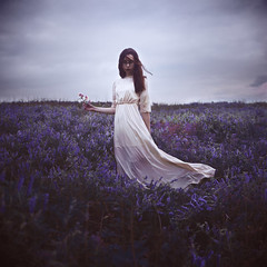 Flower (Callan Kapush) Tags: flower girl woman female purple flowerfield blueflowers whitedress fantasy whimsical callankapush callankapushphotography nikon nikond3100 35mmlens relientk airforfree square squarecrop expansion pixelmator thingirl purpleflowers flowers field moody dark sad darkclouds clouds emotion emotional self selfportrait selfportraiture selfie aritstsontumblr photographersontumblr photographer girlphotographer urbanoutfitters girlphotography flowyhair photoshop