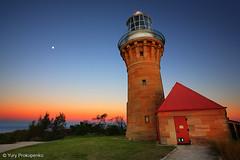 Barrenjoey Lighthouse after Sunset, Sydney, Australia (renatonovi1) Tags: barrenjoey lighthouse sunset palmbeach beach sydney nsw australia sea ocean landscape moon