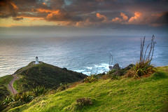 Reinga Sunset (hapulcu) Tags: capereinga newzealand northisland nz northland dusk kiwi lighthouse sunset winter