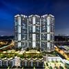 Skyville Living (bing dun (nitewalk)) Tags: singapore queenstown dawson skyville hdb architecture tiltshift night tse17mmf40l