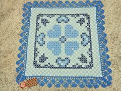 11 (AneloreSMaschke) Tags: tecido xadrez bordado artesanato corao azul