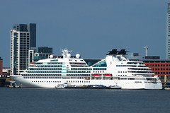 Seabourn Quest (frisiabonn) Tags: mersey endurance barge passenger ship water liverpool wirral woodside birkenhead united kingdom great britain england beautiful big large seabourn quest princess parade cruise cruiseliner cruiseship liner luxury huge comfort maritime city
