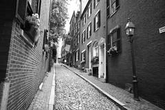 Acorn Street (jenny_guo) Tags: leica m monochrome street blackandwhite historic boston massachusetts beaconhill outdoor summilux 1424 24mm asph monochrom f14
