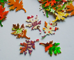 Handpainted fall leaf confetti (Teakberry) Tags: confetti party etsy differencemakesus handpainted fall leaf leaves autumn wedding embellishment holiday seasonal thanksgiving decorations