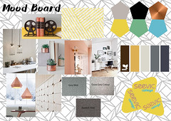 Moodboard - Interior Design (kate_saundersdesigns) Tags: interior design exciting experimental colours tones structure layout composition