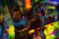 Muecas diablicas (seguicollar) Tags: muecas diablica ramas cruz paisaje imagencreativa photomanipulacin photomontaje artedigital arte art artecreativo bosque misterio rbol