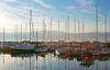 A Better Version (raduchiriac) Tags: lake sunset boats sky blue clouds reflection water france yvoire
