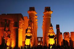 Luxor (transmundi) Tags: 2009 ambience archeology colossus egypt illumination luxor monument temple templeofluxor