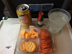 201609024 Amtrak cafe car snack (taigatrommelchen) Tags: 20160835 movingmeals railway railroad train onboard speisewagen diningcar food meal snack amtrak explore
