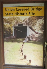 Union Covered Bridge State Historic Site Sign (Monroe County, Missouri) (courthouselover) Tags: missouri mo unioncoveredbridge coveredbridges unioncoveredbridgestatehistoricsite stateparks monroecounty northamerica unitedstates us