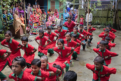 Students participate is school activities (World Bank Photo Collection) Tags: worldbank sahabatpurvillage bangladesh southasia students parents mothers residents village uniforms