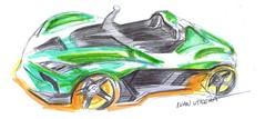 auto a lapicero (ivanutrera) Tags: draw dibujo drawing drawingcar sketch sketching coche auto automóvil pen boligrafo lapicero dibujoaboligrafo