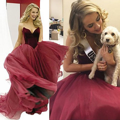 prom dress (maweiyu) Tags: elegant prom dress burgundy ball gown tulle party dres