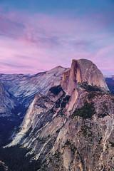 Half Dome I (mandar245) Tags: california usa nationalpark yosemitenationalpark yosemite sunset bluehour halfdome landscape mountain nature