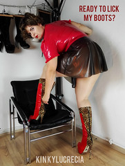 1MadamLucreciaBootfetishMeme (madam.lucrecia1) Tags: boots latex fetish femdom domina dominatrix bbw curvy girl short hair brunette pantyhose high heels giarro