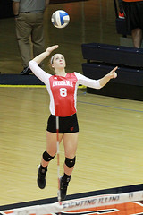 Serve - Explored (RPahre) Tags: volleyball huffhall huff universityofillinois illinois champaign b1g serve indianauniversity indiana meaghankoors