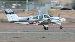 Beech 95-B55 Baron N1806W (ChrisK48) Tags: 1972 55 aircraft airplane b55 baron beech95b55 beechcraft dvt kdvt n1806w phoenixaz phoenixdeervalleyairport t42a cntc1506