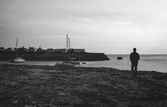 Menorca - Harbour (T. Alexander) Tags: menorca harbour blackwhite blackandwhite person people boat ship sailing house water ocean walking spain balearicislands