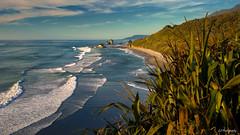The light beyond (.KiLTRo.) Tags: ninemile westcoast newzealand kiltro beach sea ocean sunset outdoor geology