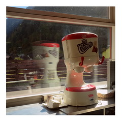 Ice Cream Machine (ngbrx) Tags: ambrpiotta ticino switzerland piotta schweiz suisse svizzera tessin ice cream machine eismaschine window fenster sunlight sonnenlicht service raststtte