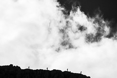 follow the leader II (gavin.hoskins) Tags: blackandwhite clouds helvellyn figures silhouettes hiking walking scrambling lakedistrict cumbria canoneos60d stridingedge autumn outside outdoors