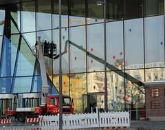 under art construction (universaldilletant) Tags: european frankfurt protest centralbank ecb ezb zentralbank europische farbei farbbombe blockupy