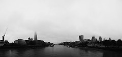 And so came the clouds... (OrkoLuca) Tags: city greatbritain bridge england sky bw panorama sun white black london tower water collage fog thames clouds photoshop towerbridge river landscape soleil blackwhite nikon eau noir nuvole fiume cit rivire bn ciel cielo panoramica londres vista angleterre photomerge sole nuages paysage nebbia acqua bianco londra blanc vue nero brouillard bianconero ville citt inghilterra tamigi cs4 seesight d7100 photoshopcs4 noirbalnc flickrtravelaward nikond7100
