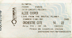 ALICE COOPER LIVE FROM THE BRUTAL PLANET OLYMPIA DIMANCHE 13 MAI 2001 (hube.marc) Tags: from 2001 rock metal concert place alice live hard mai cooper planet olympia 13 dimanche billet salle musique brutal spectacle the hevy plabet