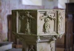 The Font (dangerousdavecarper) Tags: uk church saint stone norfolk carving nicholas font baptismal