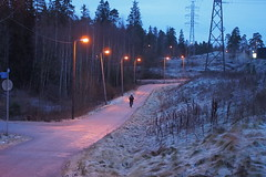 2014 Bike 180: Day 220, December 18 (olmofin) Tags: snow ice bicycle espoo finland commuter f18 45mm bike180 mzuiko 2014bike180