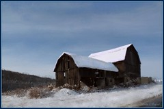 Chill (edenseekr) Tags: winter snow barn digital rural painting countryside farmland freehand countrylife