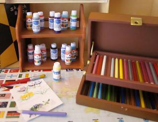 1/6 size craft paint bottles