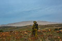 Division Artillery 282 at the Syrian Border (Israel Defense Forces) Tags: army israel military soldiers division activity golanheights idf israeliarmy operational israeldefenseforces artillerycorps