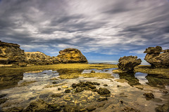 St Paul's Beach, Sorrento, Victoria, Australia (Chas56) Tags: blue sea beach clouds canon rocks australia victoria sorrento slowexposure rockformation ndfilter stpaulsbeach canon5dmkiii