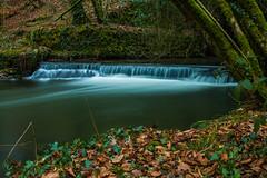 River Lumburn Weir under the canal (trevorhicks) Tags: winter river canal devon tavistock wier lumburn