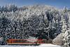 Snow Mountain and Eizan Densha (1973-pinball) Tags: winter snow japan train kurama sakyoku eiden summaron35mmf35 ninose xe2 eizandensha eizanrailway ゆる鉄 yurutetsu