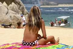 Cabo - Beauty at Lovers Beach (Don Thoreby) Tags: mexico cabo cabosanlucas sunbather mexicanriviera loversbeach caboarch blondebeauty bikinibeauty