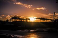 Sunset Wonder (jeffreymbhibbard) Tags: sunset sky sun color beautiful beauty clouds 35mm lens photography prime golden washington nikon colorful professional nikkor streaks 35 puyallup sunstreaks nikond7000 nikon7000