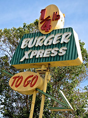 1/4 Lb Burger Xpress, Oakland, CA (Robby Virus) Tags: california french oakland bay neon burger 14 go east fries hamburger pies quarter to hotdogs express lb pound shakes xpress nelsonneon