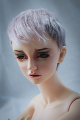 Angora mohair wig for sale (SophyMolly) Tags: pink rose switch grey doll head sale wig mohair bjd angora abjd adoption uhui