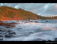 Sunrise At Koki Beach (Hamilton Images) Tags: red sky rock clouds sunrise canon landscape hawaii lava surf waves january maui hana kokibeach 2015 24105mm img2807 leefilter 7dmarkii 09softedgegraduatedneutraldensity