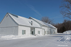 La grange de pierre de Maizerets (Marie-Jose Lvesque) Tags: blue winter white canada barn hiver qubec grange 2015 maizerets