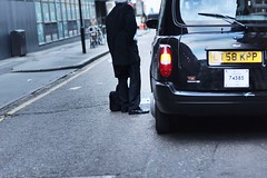 No Money For The Cab? (ashrafmahmood) Tags: street money black london car hail office google cab taxi cash suit oldstreet cabi