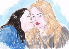 We can live like Jack and Sally, if you want (PaoloF- Kiss me like the ocean breeze) Tags: love girl women friend kiss friendship you cara michelle blink miss rodriguez sisterhood 182 delevingne